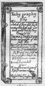 Shelton, Tachygraphy