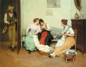 Eugene de Blaas, The Friendly Gossips