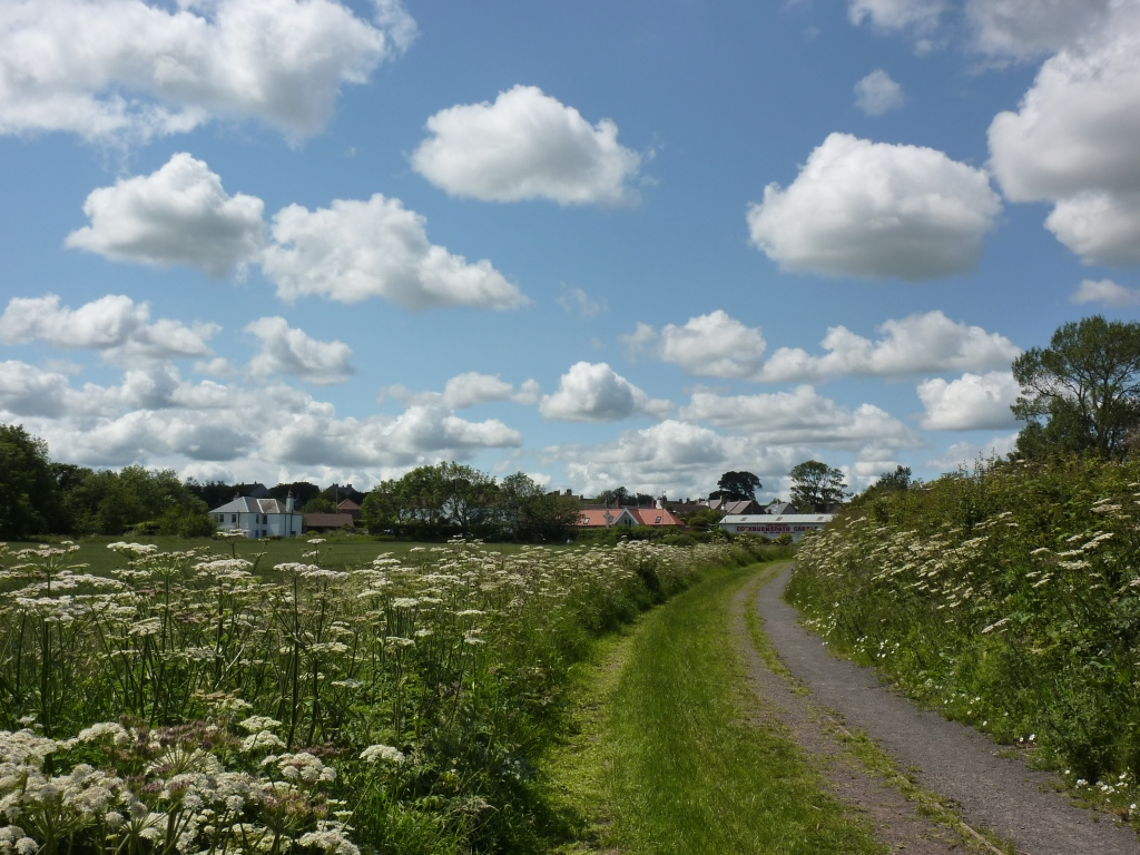 The road into Cockburnspath