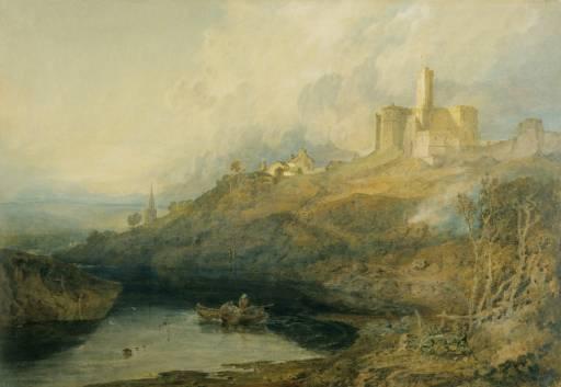 Warkworth Castle, by J. M. W. Turner. Copyright V&A.