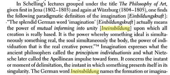 Schelling on creative imagination