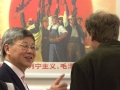 PPAC director Yang Pei-Ming discussing the exhibition