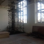 Image showing scaffolding in the corner of studio C7