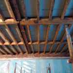 Image showing the ceiling of Sstudio E14 stripped back to the joists