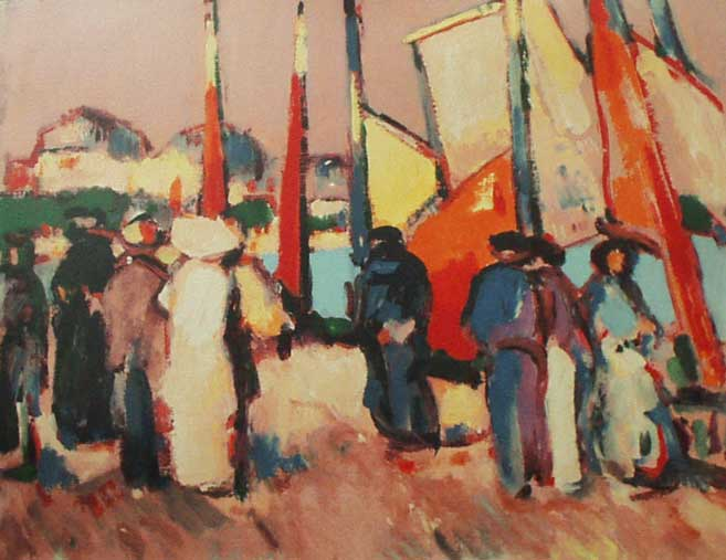 People and Sails by JD Fergusson. Artwork in the public domain.