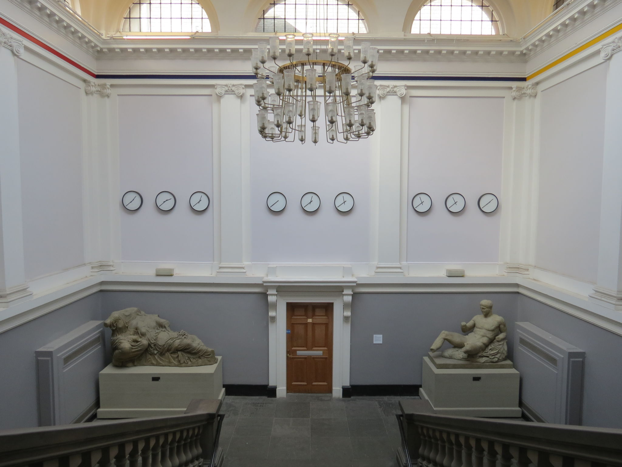 Timepieces (2014), Katie Paterson Part of the University of Edinburgh Art Collection. Installed in the Edinburgh College of Art Main Building.
