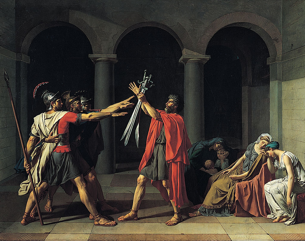 """Oath of the Horatii"" by Jacques-Louis David, source: Wikimedia Commons"