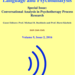 Language and Psychoanalysis. Special issue on Conversational Analysis