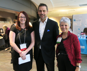 Speakers Angie Balfour and Douglas Paddon‐Jones with organiser Mary Anne Yurkiw