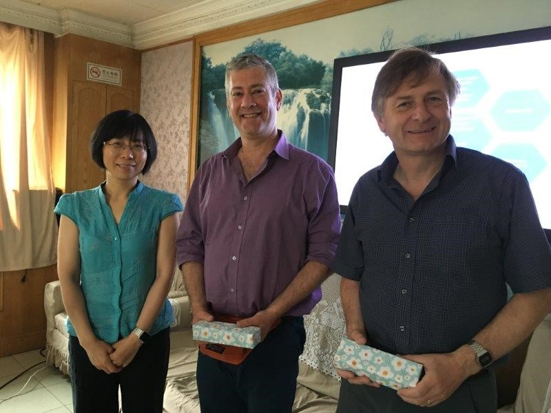 Professor Lu Nursing department Peking University with Sharon and Colin