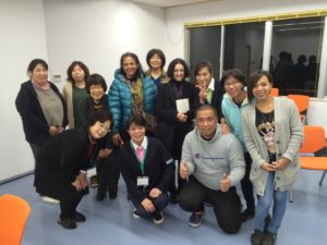 Group photo at the Maimu Nursing Home, Maizuru, Kyoto