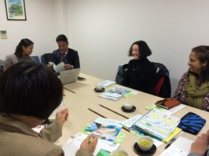 Group discussion at the Nara Higashi Hospital Group