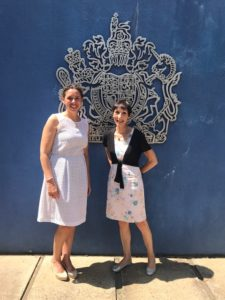Tonks and Aisha visiting the British High Commision Sri Lanka
