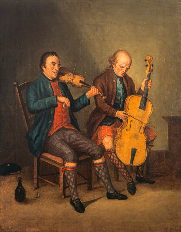 Allan, David; Niel Gow (1727-1807), Violinist and Composer, with his Brother Donald Gow (active c.1780), Cellist; National Galleries of Scotland; http://www.artuk.org/artworks/niel-gow-17271807-violinist-and-composer-with-his-brother-donald-gow-active-c-1780-cellist-212069