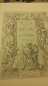 Frontispiece of Barrie's Peter and Wendy - Museum archive