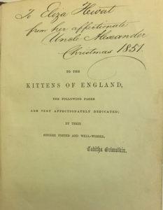 Catland book dedication