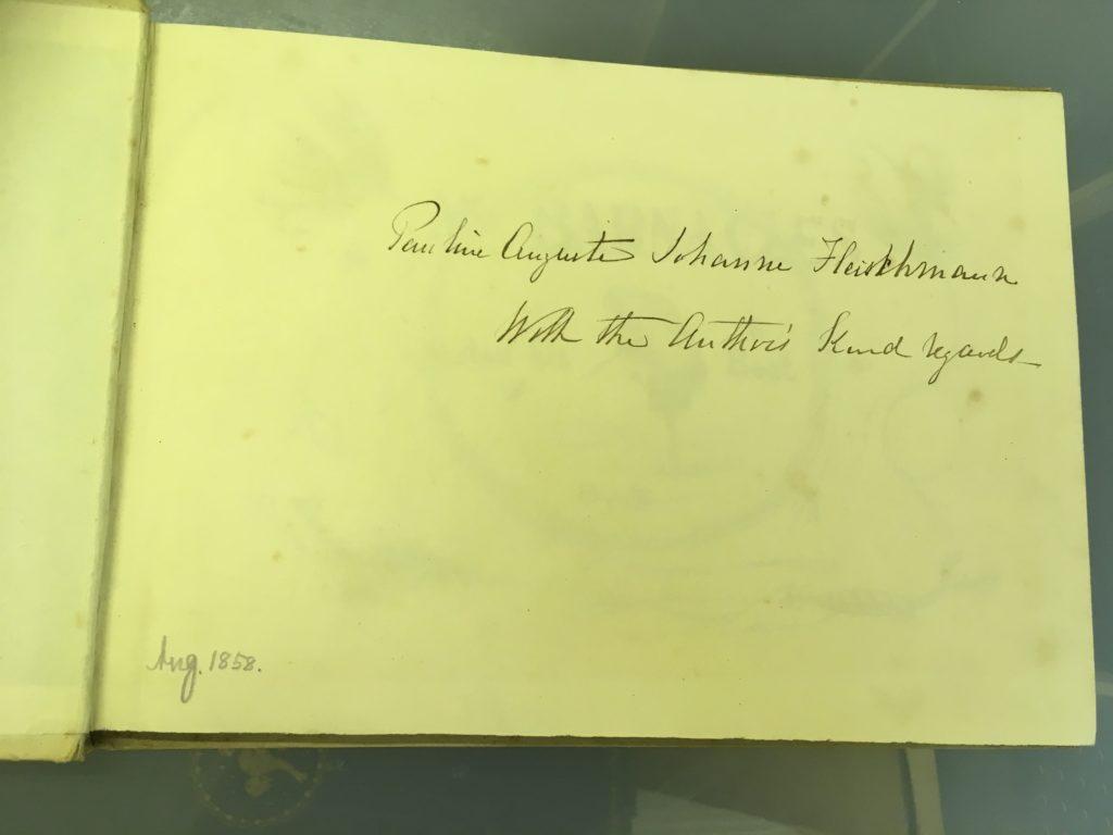 The author's inscription