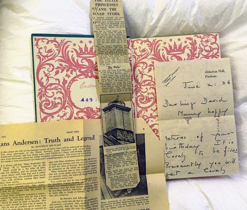 Hans Andersen Newspaper & Letter