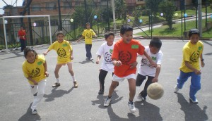 Sport for Development and Peace programme in Ciudad Bolivar in Bogota.