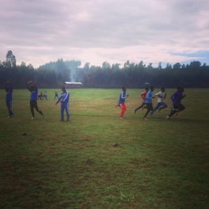 Athletes training at the camp at Gondar,